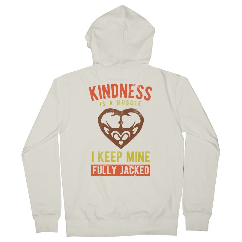 Payback Penguin - Kindness (Cream) Women's Zip-Up Hoody by Payback Penguin