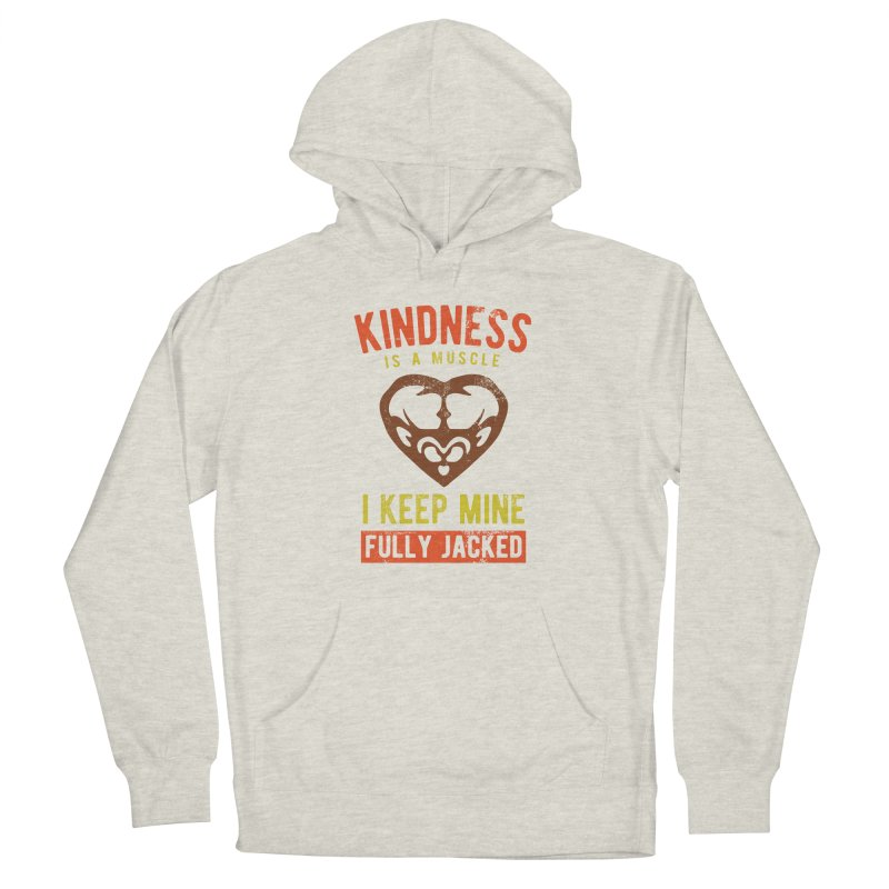 Payback Penguin - Kindness (Cream) Men's French Terry Pullover Hoody by Payback Penguin
