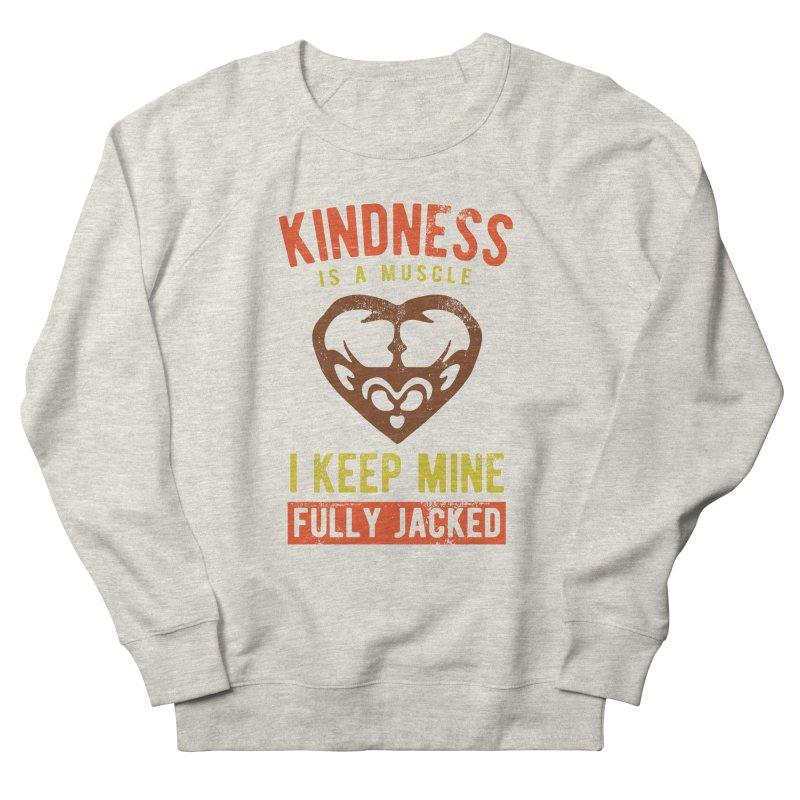 Payback Penguin - Kindness (Cream) Men's French Terry Sweatshirt by Payback Penguin