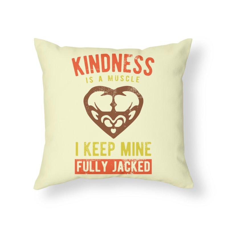 Payback Penguin - Kindness (Cream) Home Throw Pillow by Payback Penguin