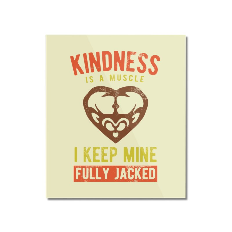 Payback Penguin - Kindness (Cream) Home Mounted Acrylic Print by Payback Penguin