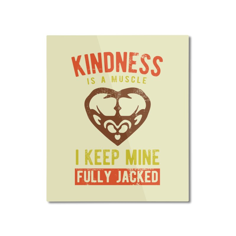 Payback Penguin - Kindness (Cream) Home Mounted Aluminum Print by Payback Penguin