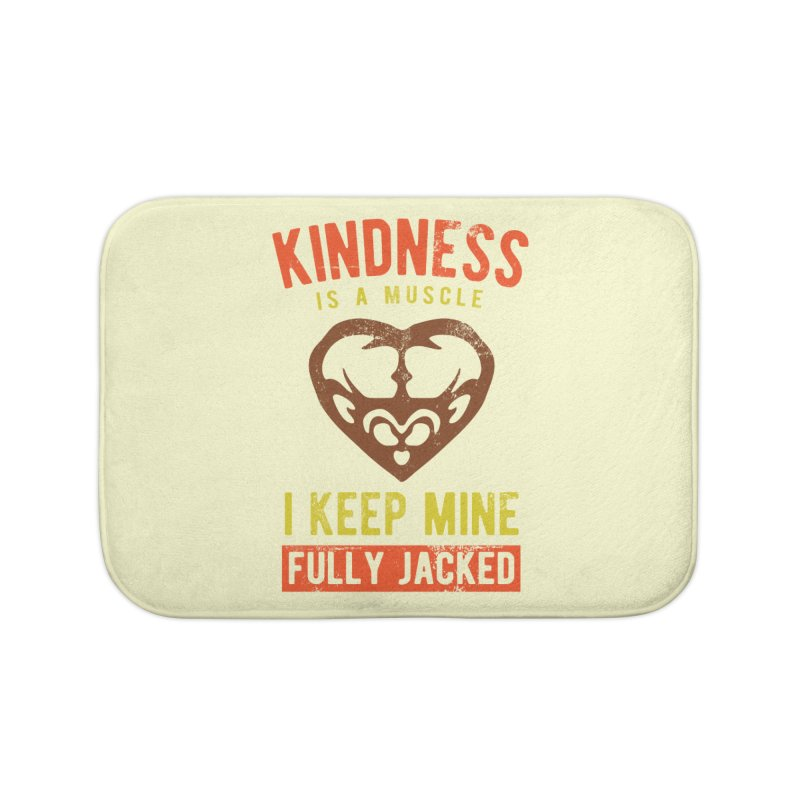Payback Penguin - Kindness (Cream) Home Bath Mat by Payback Penguin
