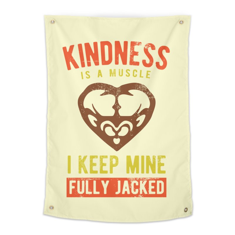 Payback Penguin - Kindness (Cream) Home Tapestry by Payback Penguin