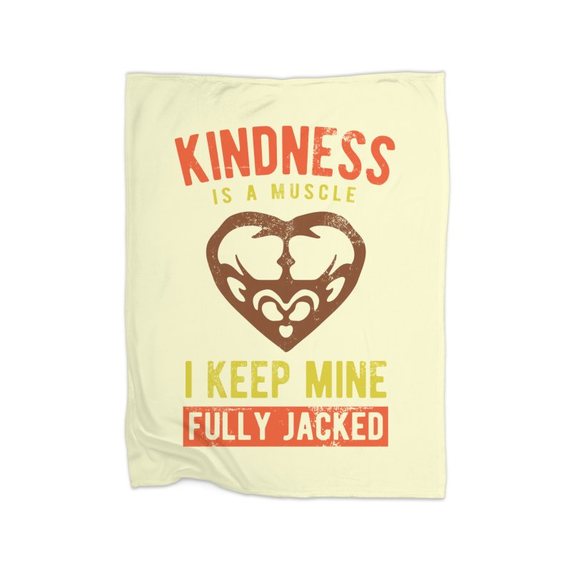 Payback Penguin - Kindness (Cream) Home Fleece Blanket by Payback Penguin