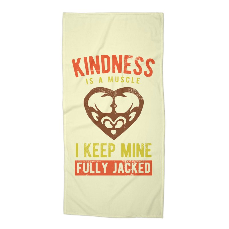 Payback Penguin - Kindness (Cream) Accessories Beach Towel by Payback Penguin