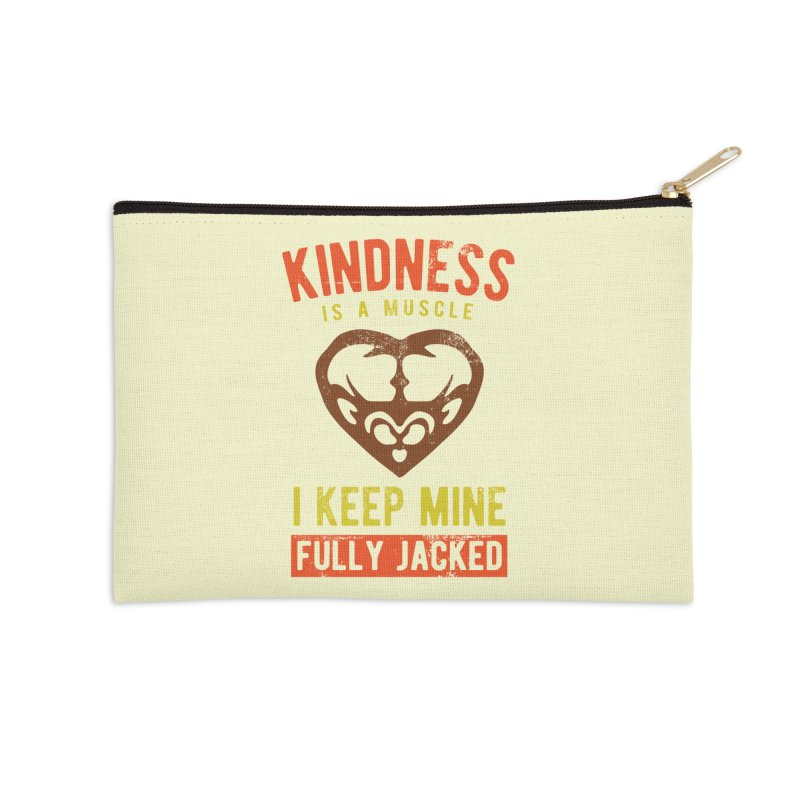 Payback Penguin - Kindness (Cream) Accessories Zip Pouch by Payback Penguin