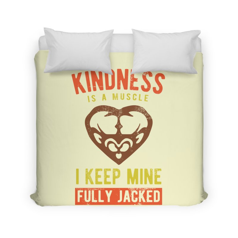 Payback Penguin - Kindness (Cream) Home Duvet by Payback Penguin