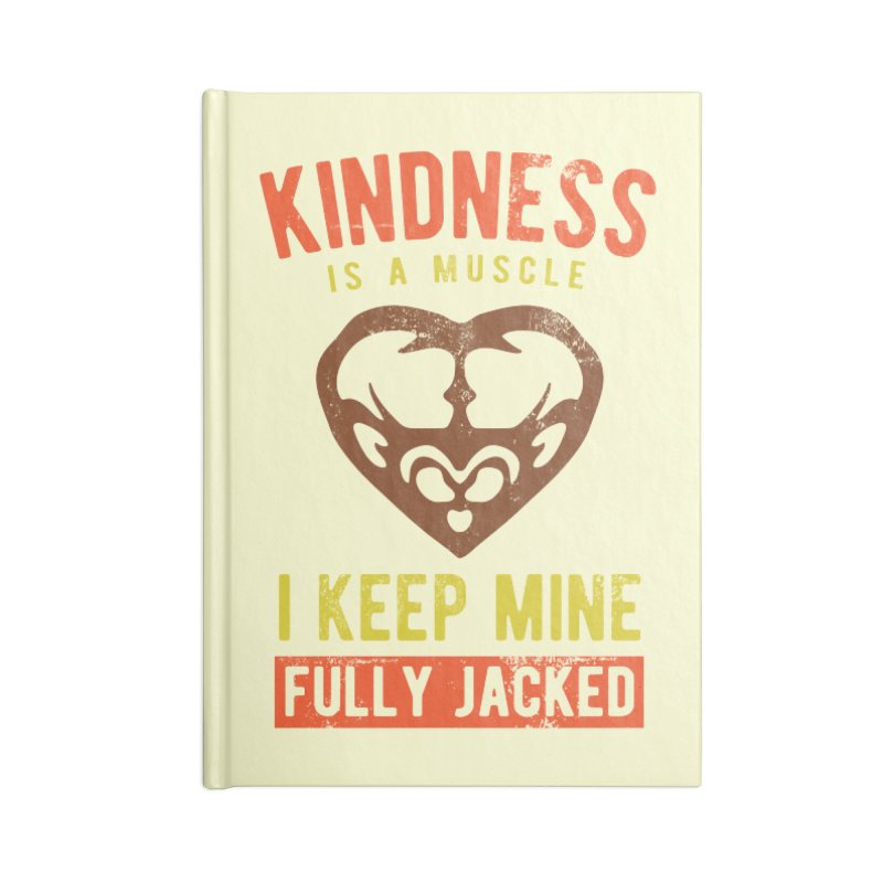 Payback Penguin - Kindness (Cream) Accessories Lined Journal Notebook by Payback Penguin