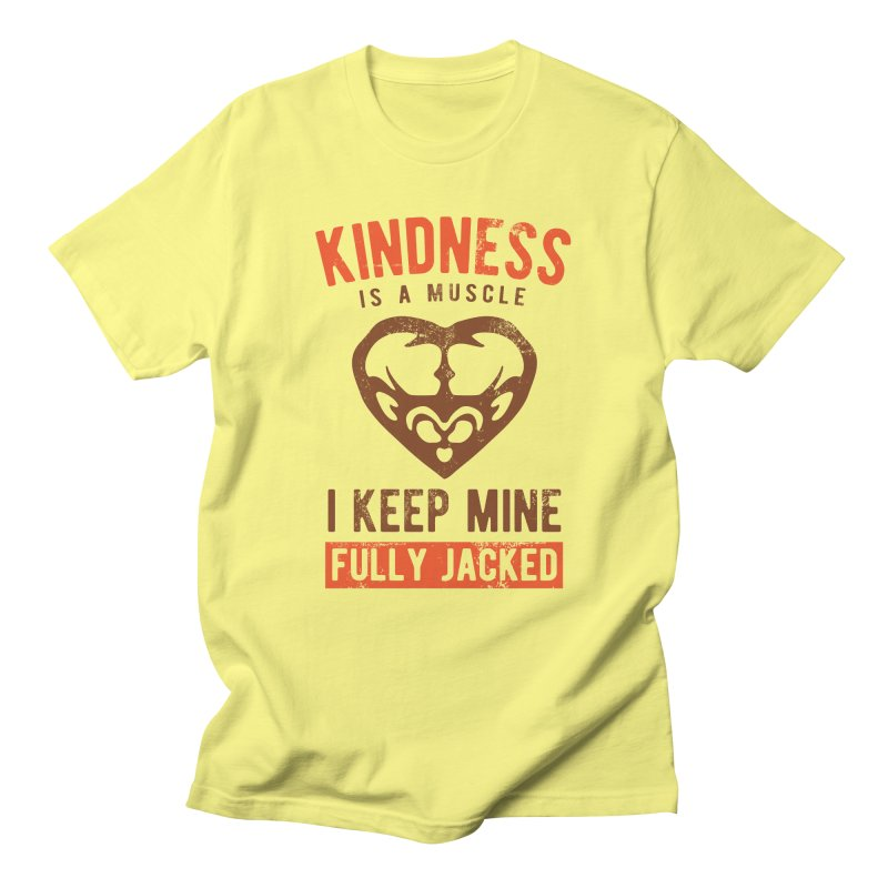 Payback Penguin - Kindness (yellow) in Men's Regular T-Shirt Lemon by Payback Penguin