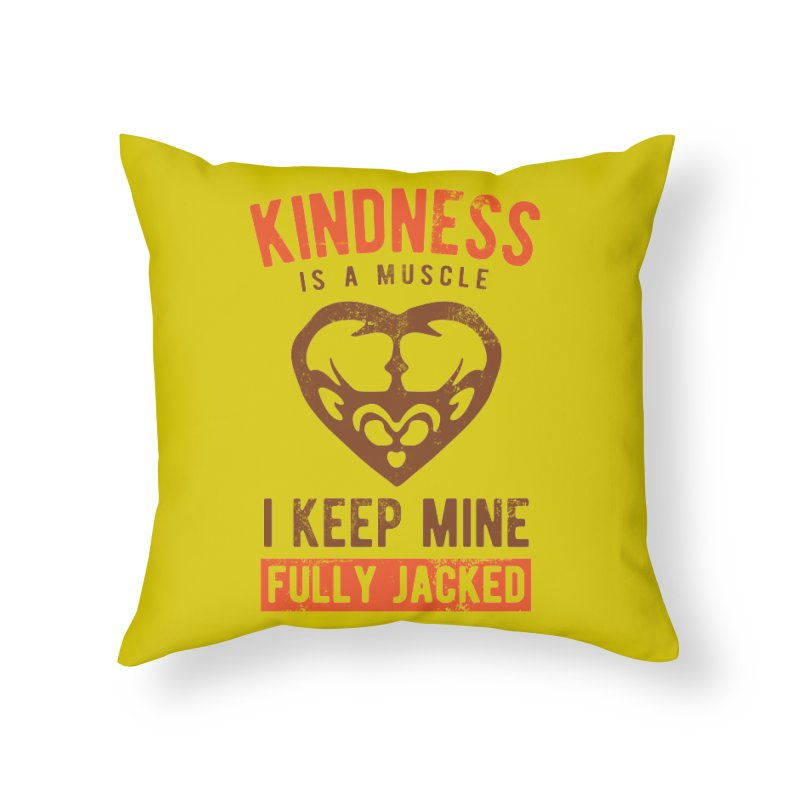 Payback Penguin - Kindness (yellow) Home Throw Pillow by Payback Penguin