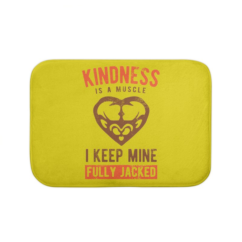 Payback Penguin - Kindness (yellow) Home Bath Mat by Payback Penguin
