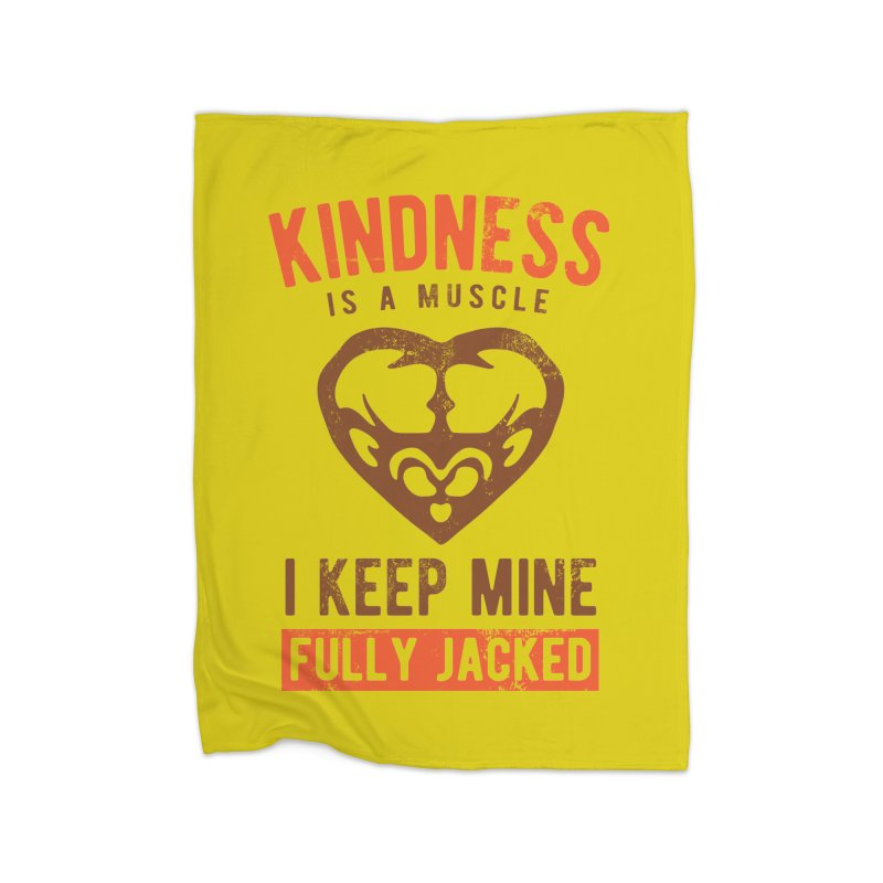 Payback Penguin - Kindness (yellow) Home Fleece Blanket by Payback Penguin