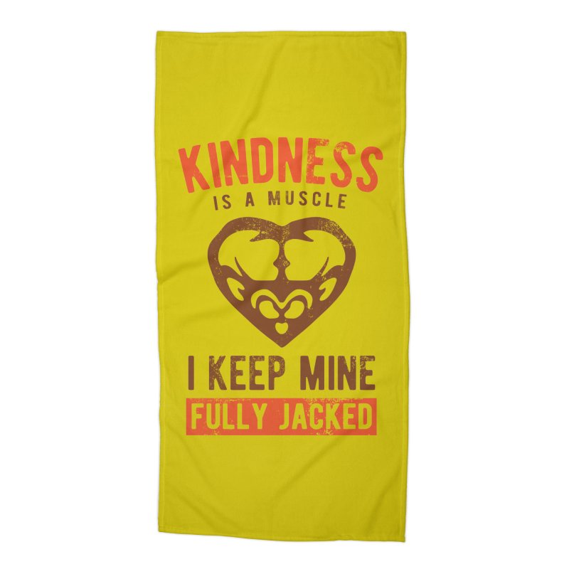 Payback Penguin - Kindness (yellow) Accessories Beach Towel by Payback Penguin
