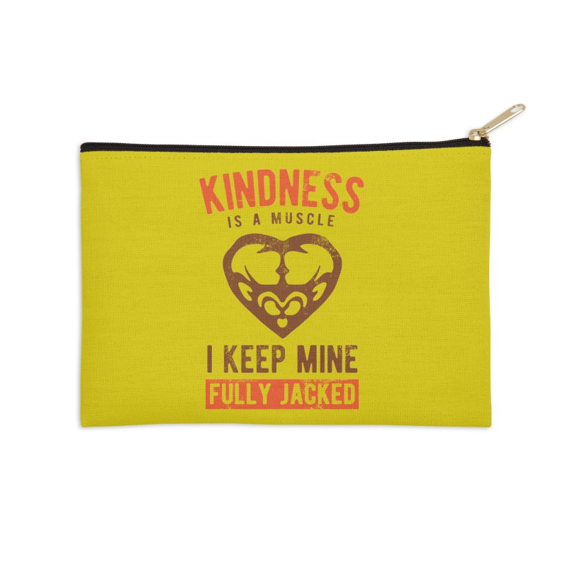 Payback Penguin - Kindness (yellow) Accessories Zip Pouch by Payback Penguin