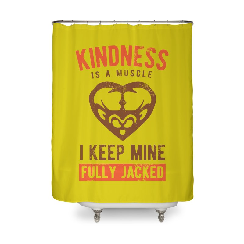 Payback Penguin - Kindness (yellow) Home Shower Curtain by Payback Penguin