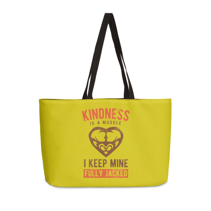 Payback Penguin - Kindness (yellow) Accessories Weekender Bag Bag by Payback Penguin