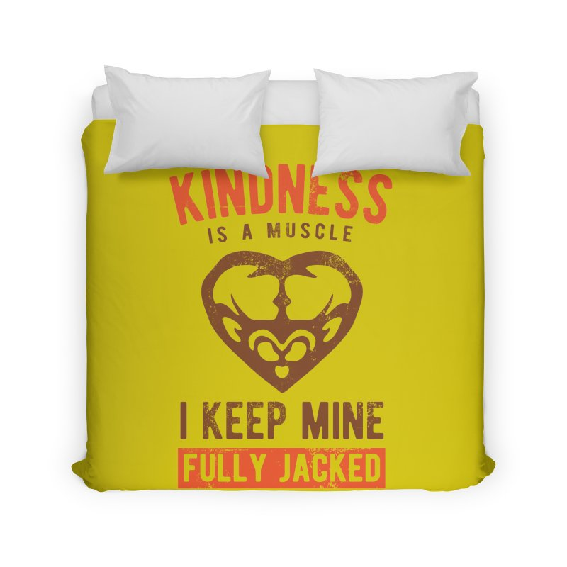 Payback Penguin - Kindness (yellow) Home Duvet by Payback Penguin