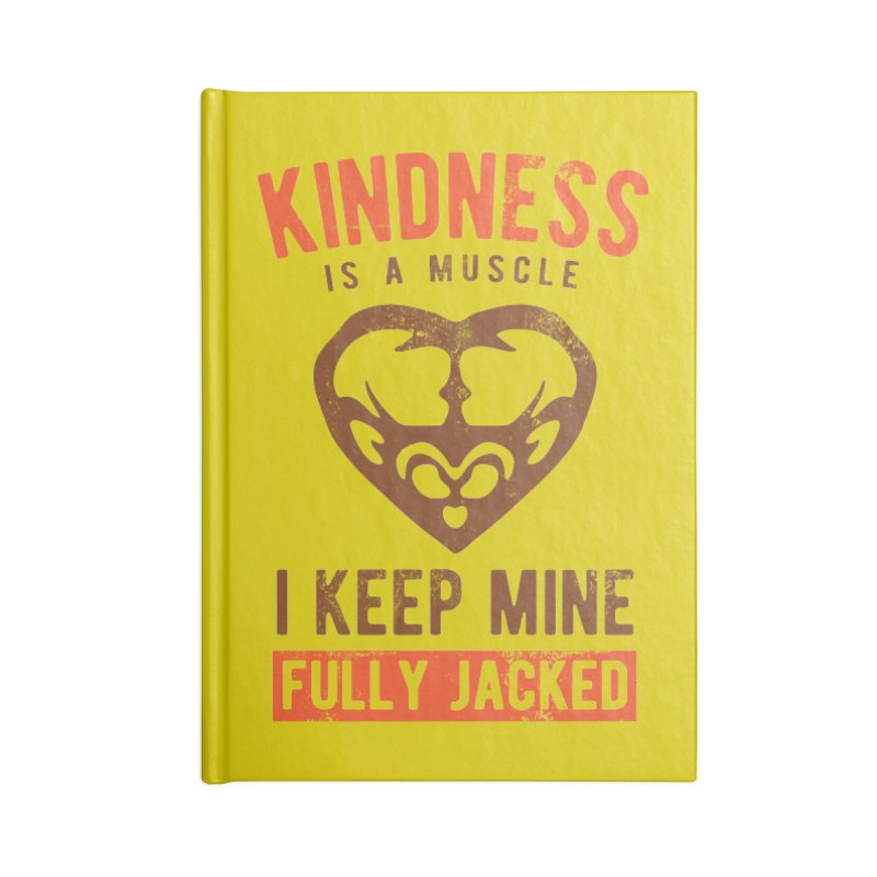 Payback Penguin - Kindness (yellow) Accessories Lined Journal Notebook by Payback Penguin