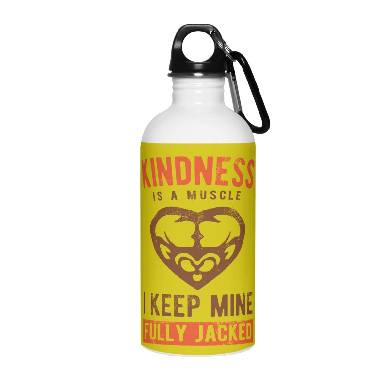 Payback Penguin - Kindness (yellow) Accessories Water Bottle by Payback Penguin