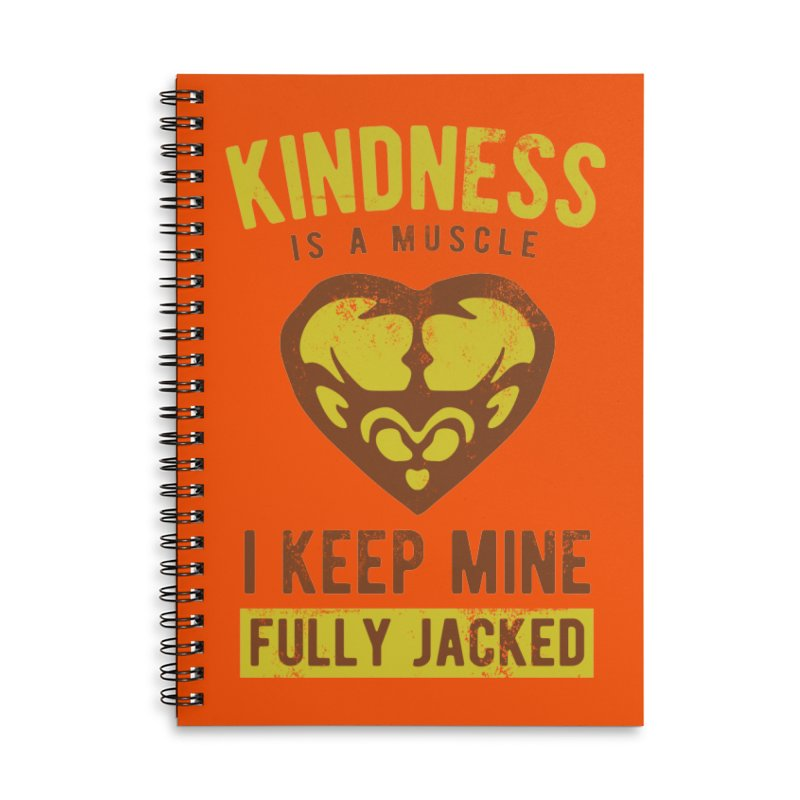Payback Penguin - Kindness (Orange) Accessories Lined Spiral Notebook by Payback Penguin