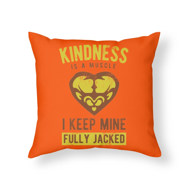 Payback Penguin - Kindness (Orange) Home Throw Pillow by Payback Penguin