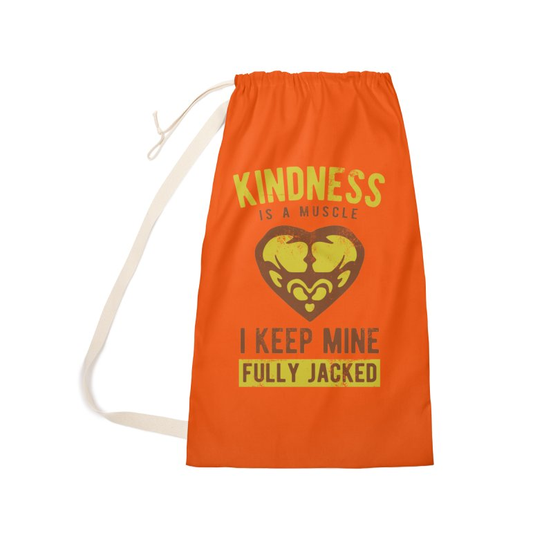 Payback Penguin - Kindness (Orange) Accessories Laundry Bag Bag by Payback Penguin