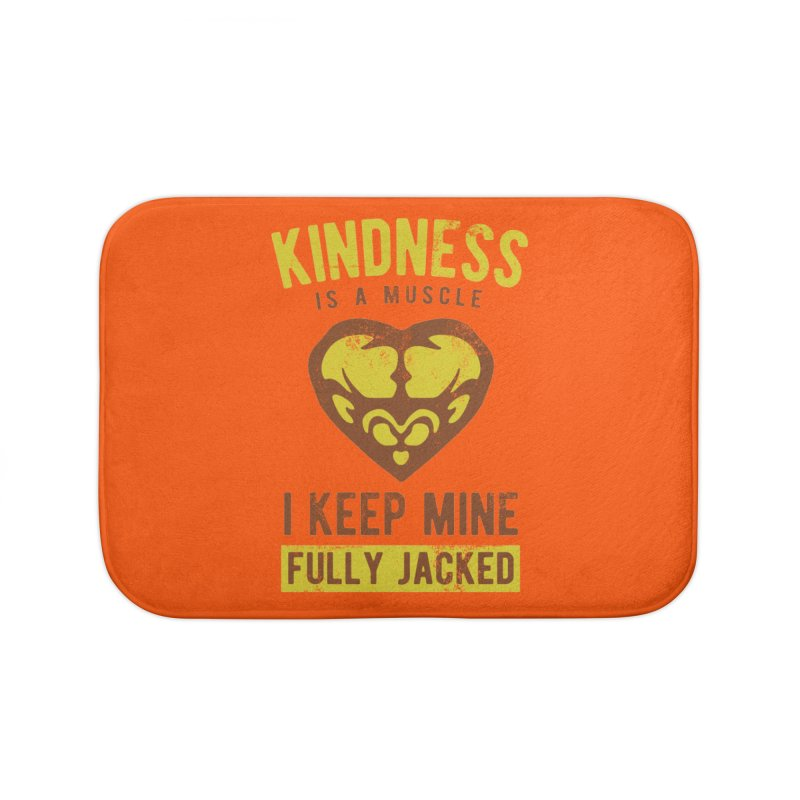 Payback Penguin - Kindness (Orange) Home Bath Mat by Payback Penguin