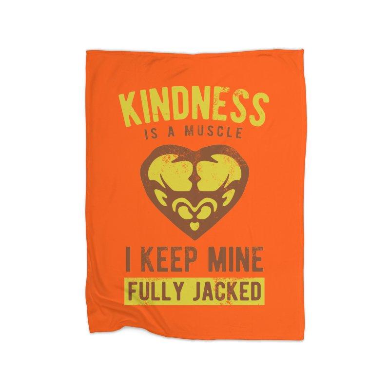 Payback Penguin - Kindness (Orange) Home Blanket by Payback Penguin