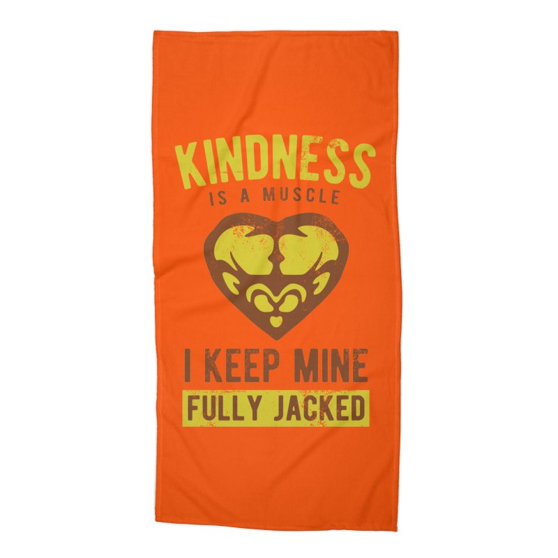 Payback Penguin - Kindness (Orange) Accessories Beach Towel by Payback Penguin