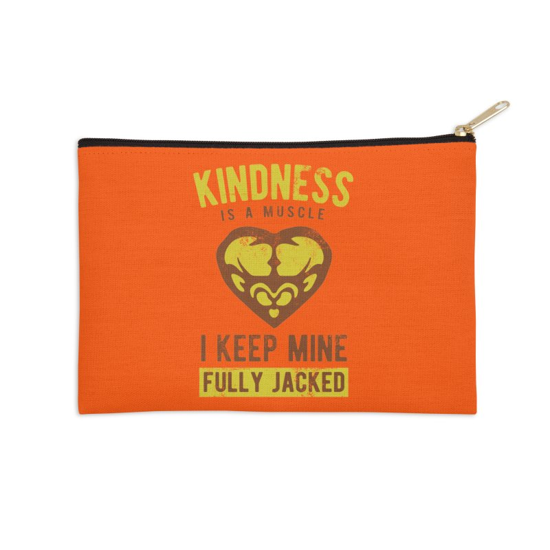 Payback Penguin - Kindness (Orange) Accessories Zip Pouch by Payback Penguin