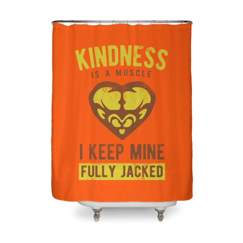 Payback Penguin - Kindness (Orange) Home Shower Curtain by Payback Penguin