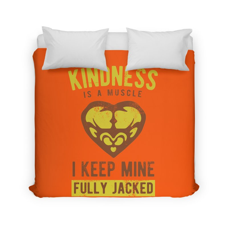 Payback Penguin - Kindness (Orange) Home Duvet by Payback Penguin