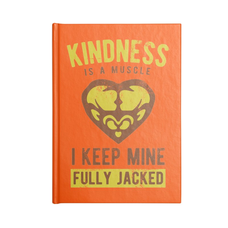 Payback Penguin - Kindness (Orange) Accessories Blank Journal Notebook by Payback Penguin