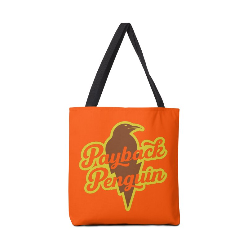 Bolt Penguin - Orange Accessories Tote Bag Bag by Payback Penguin