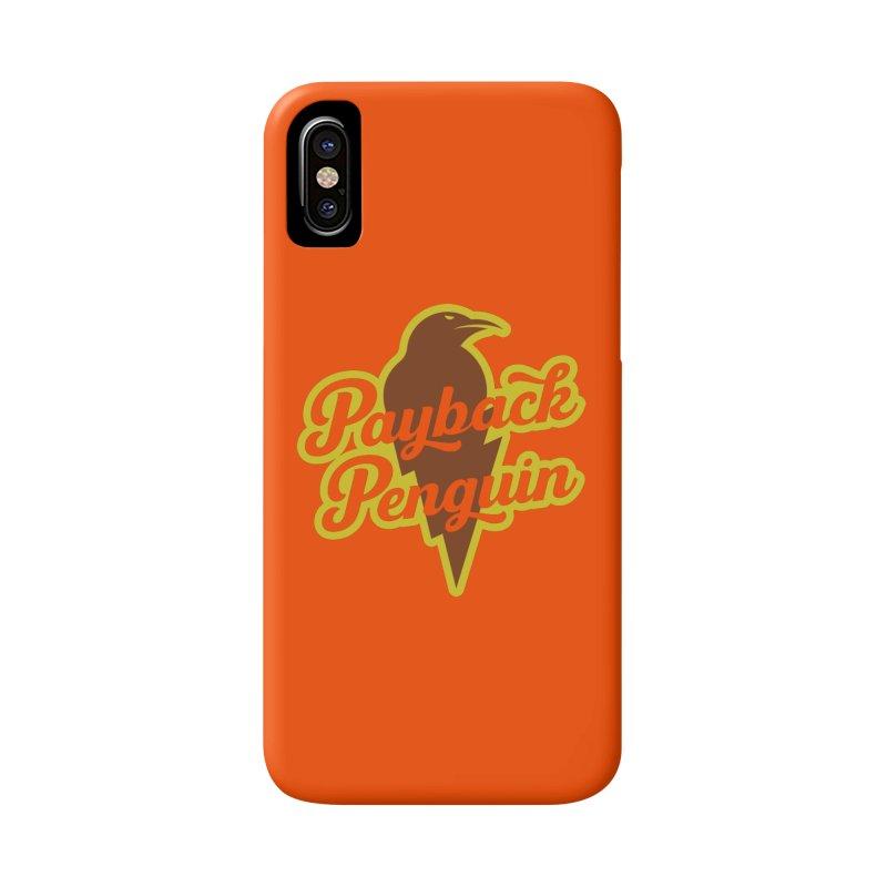 Bolt Penguin - Orange Accessories Phone Case by Payback Penguin