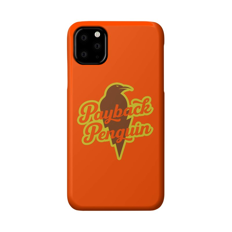 Bolt Penguin - Orange Accessories Phone Case by Payback Penguin