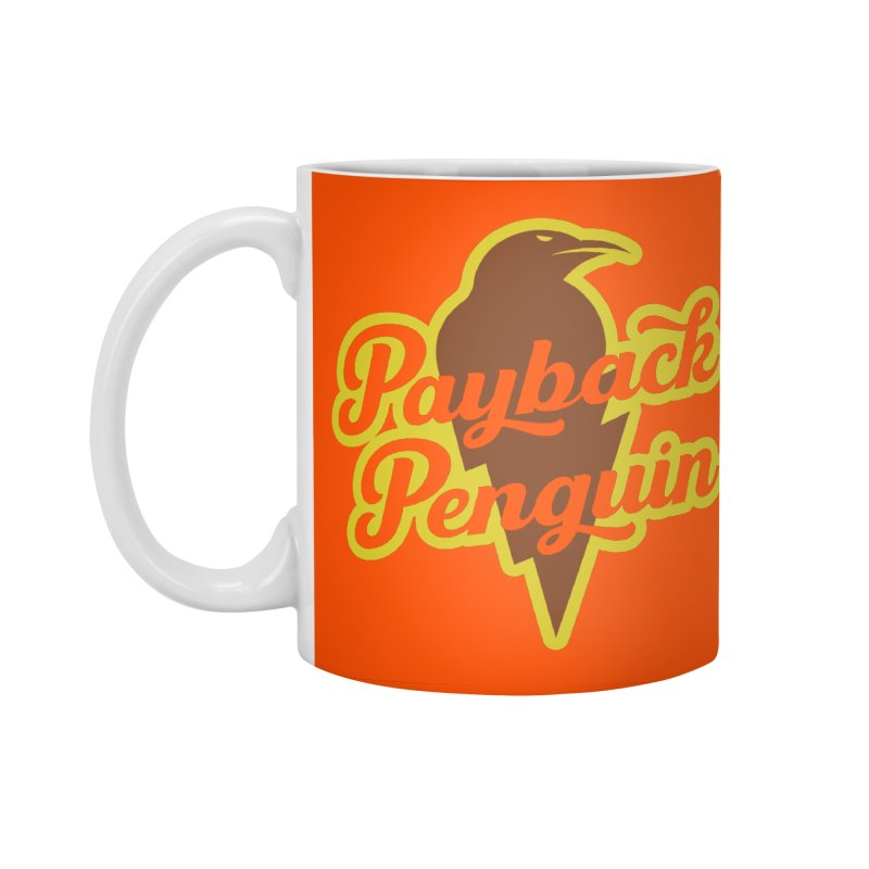 Bolt Penguin - Orange Accessories Standard Mug by Payback Penguin