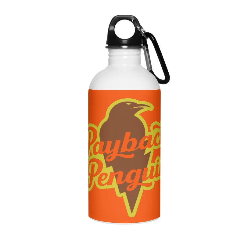 Bolt Penguin - Orange Accessories Water Bottle by Payback Penguin