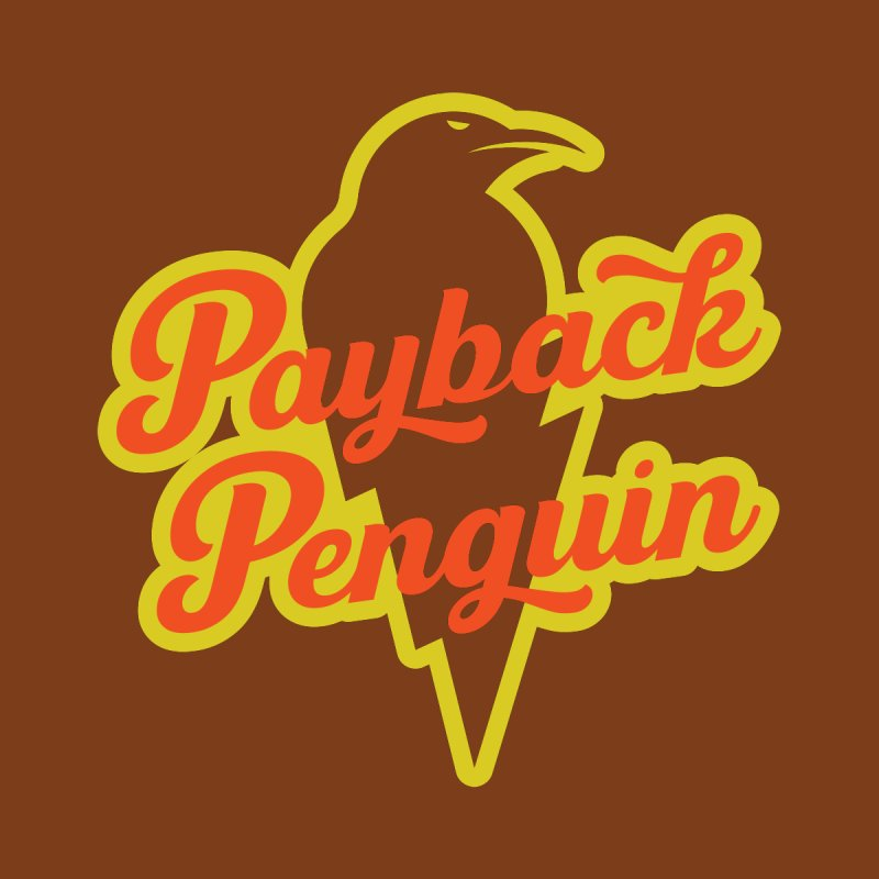 Bolt Penguin - Brown Men's T-Shirt by Payback Penguin