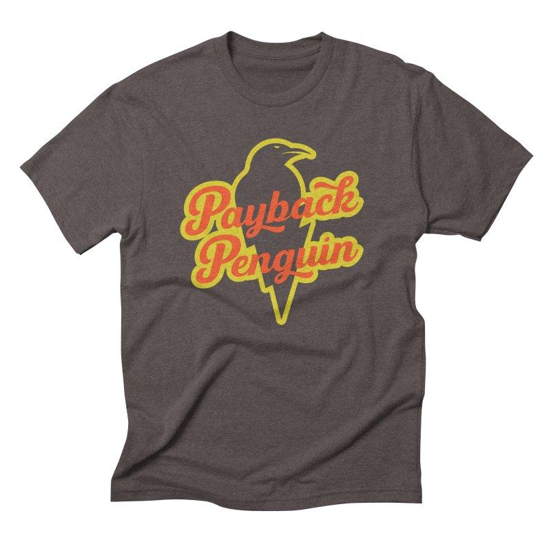 Bolt Penguin - Brown Men's T-Shirt by Payback Penguin