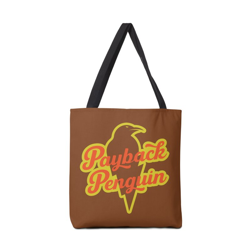 Bolt Penguin - Brown Accessories Tote Bag Bag by Payback Penguin