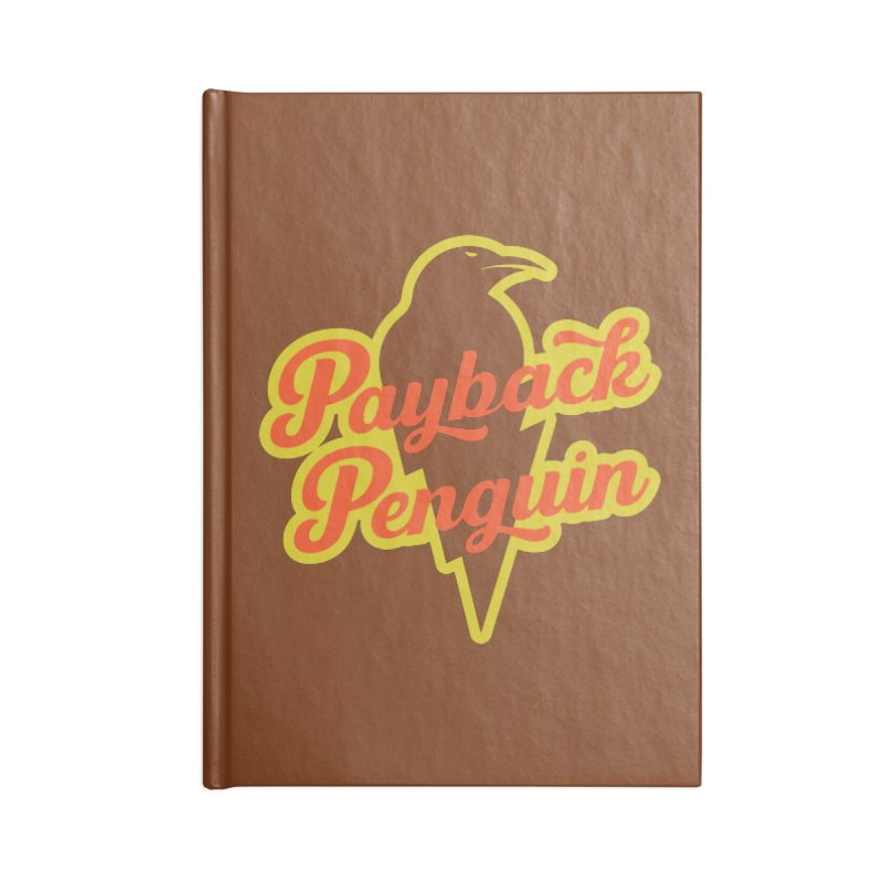 Bolt Penguin - Brown Accessories Blank Journal Notebook by Payback Penguin