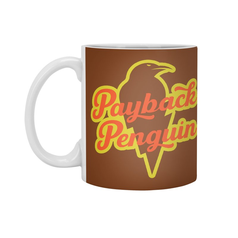 Bolt Penguin - Brown Accessories Standard Mug by Payback Penguin