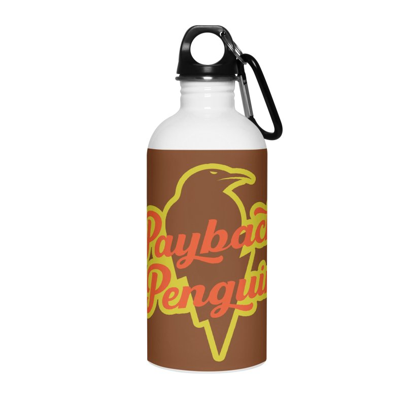 Bolt Penguin - Brown Accessories Water Bottle by Payback Penguin