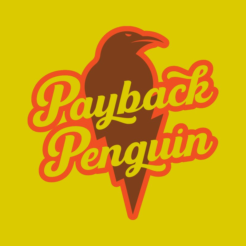 Bolt Penguin - Yellow Home Fine Art Print by Payback Penguin