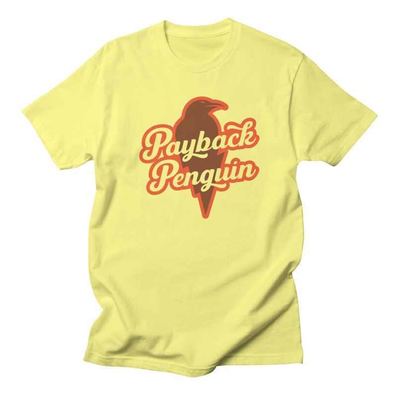 Bolt Penguin - Yellow in Men's Regular T-Shirt Lemon by Payback Penguin