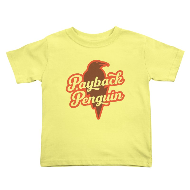 Bolt Penguin - Yellow Kids Toddler T-Shirt by Payback Penguin