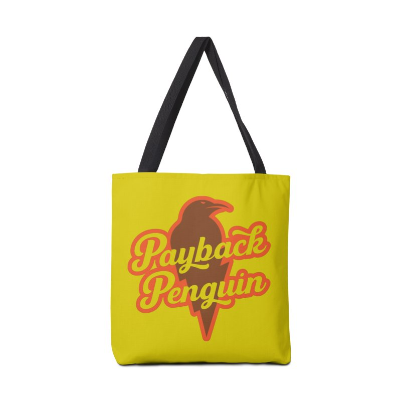 Bolt Penguin - Yellow Accessories Tote Bag Bag by Payback Penguin