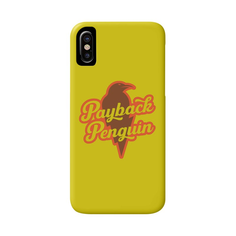 Bolt Penguin - Yellow Accessories Phone Case by Payback Penguin